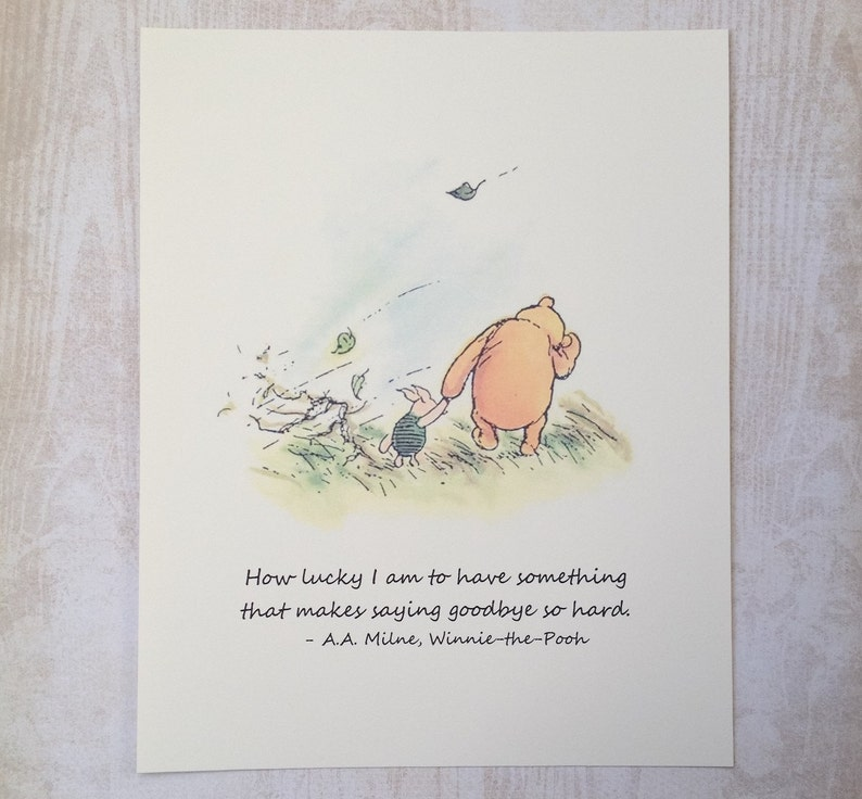 How Lucky I Am Winnie The Pooh Quote Classic Pooh And Etsy