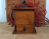Antique Wooden Coffee Grinder Mill Early 1900 39 s Box Type Coffee Mill Grinder