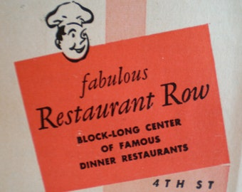 Vintage 1950's Dining And Entertainment In Southern California Guide