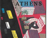 Vintage Mid Century Travel Brochure - Athens, Greece