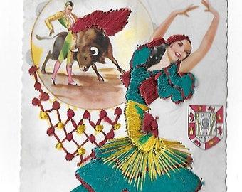 Vintage 1940's Used Travel Postcard - Fashion - Andalucia