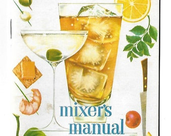 Vintage 1950's Fleischmann's Mixer's Manual - Bar Guide
