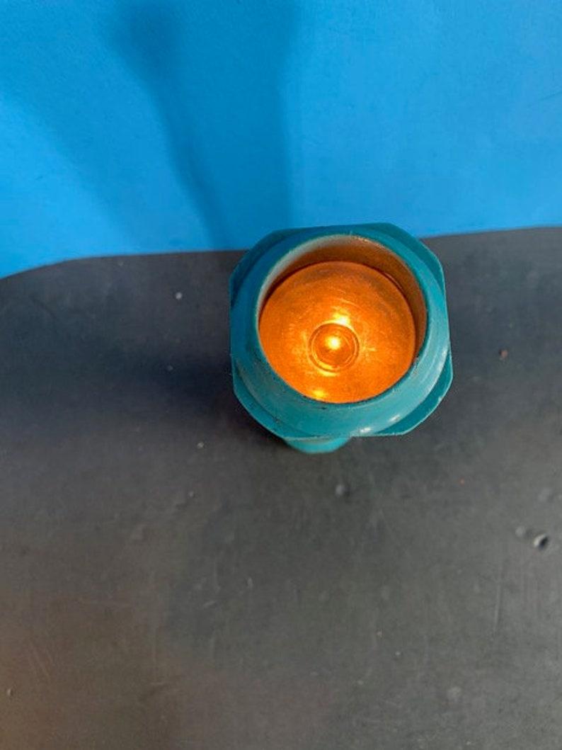 Vintage Mid Century EverReady Teal Plastic Flashlight