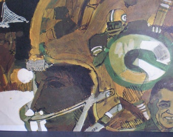 Vintage 1960's Original Terry Smith Sports Poster - Wisconsin Green Bay Packers