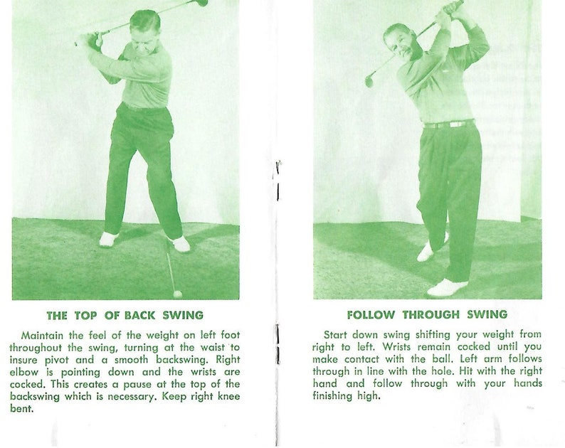 Vintage Mid Century Chicago Park District Guide - Golf Fundamentals By  Bryon Harcke
