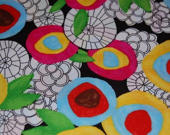 Cloud 9, Magic Garden from The Land That Never Was by Lisa Congdon, Organic Cotton Fabric Quilting Low Impact Dyes Flowers