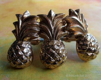 Pineapple Small Gold-Look Brass Drawer Pull or Cabinet Knob 44mm 1pc