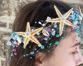 Xo bouquets seashell starfish headband tiara mermaid under the sea