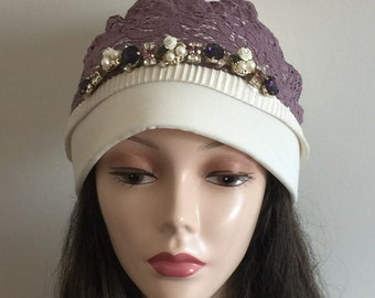 Headband /' crown /' lavender in turban look