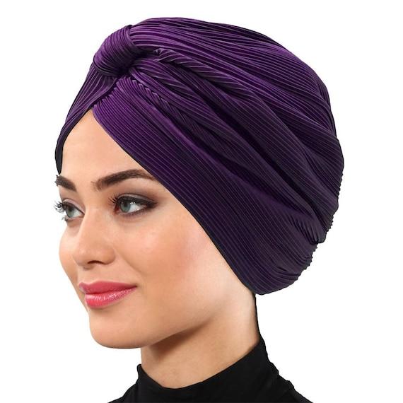Mode Damenmode Twist Knot Bonnet Hijab Turban Mütze Mütze Hut Kopftuch Wrap DE