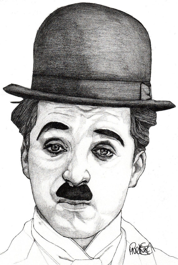 CHARLIE CHAPLIN Modern Times Signed Autographed A4 Poster Print Photo Comedian