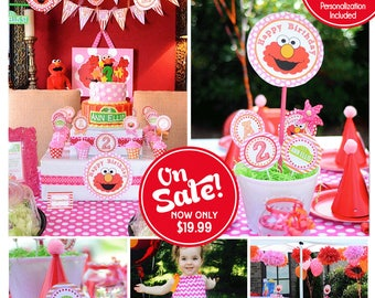 Girl Elmo Birthday Decorations