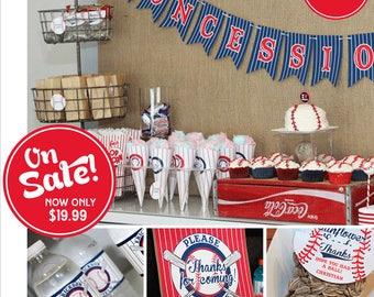 Baseball Birthday | Baseball Party Printable | Baseball Decorations | Sports Party | Sports Birthday | 1st Birthday | Amanda's Parties To Go