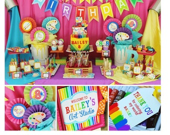 Art Party Ideas Etsy
