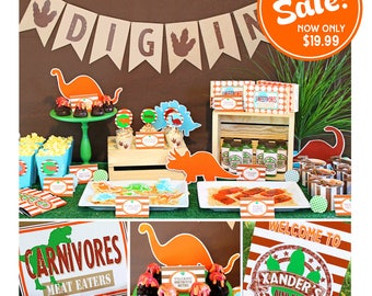 Dinosaur Birthday Party | Dinosaur Party Printable | Dinosaur Birthday Decorations | Dinosaur Party Favor | Amanda's Parties To Go