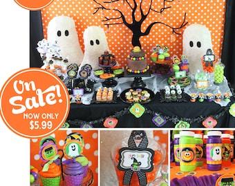 Halloween Party Printable   Halloween Decorations   Halloween Party Decor   Kids Halloween   Instant Download   Amanda's Parties To Go