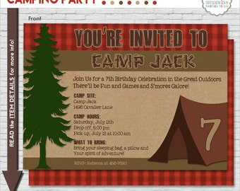 Camping invitation camping party invitation camping birthday etsy camping party invitation camping birthday invitation camping printable invitation campout invitation amandas parties to go stopboris Gallery