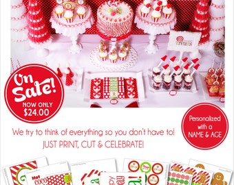 christmas birthday party printables christmas party gingerbread party hot cocoa bar amandas parties to go