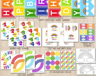 Art Birthday Party Printable Decorations For Artist