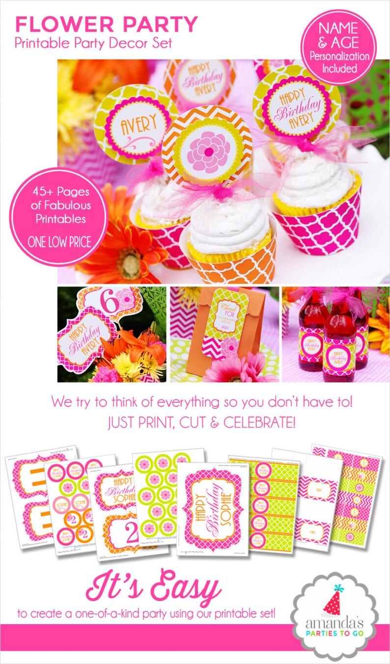 Garden Party  Garden Flower Birthday  Spring Birthday  Teen image 0