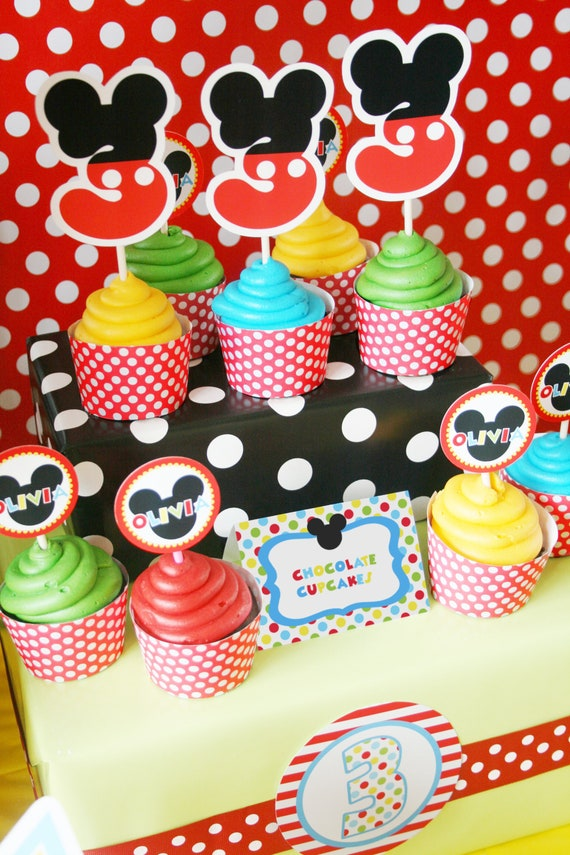 Mickey Mouse Birthday Decorations, Mickey Mouse Party Decorations, Mickey  Mouse Clubhouse Birthday Printable, Amanda\u0027s Parties To Go