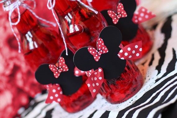 Minnie Mouse Birthday Decoration Minnie Birthday Red Minnie Mouse Decoration Minnie Mouse Centerpiece Minnie Mouse Party