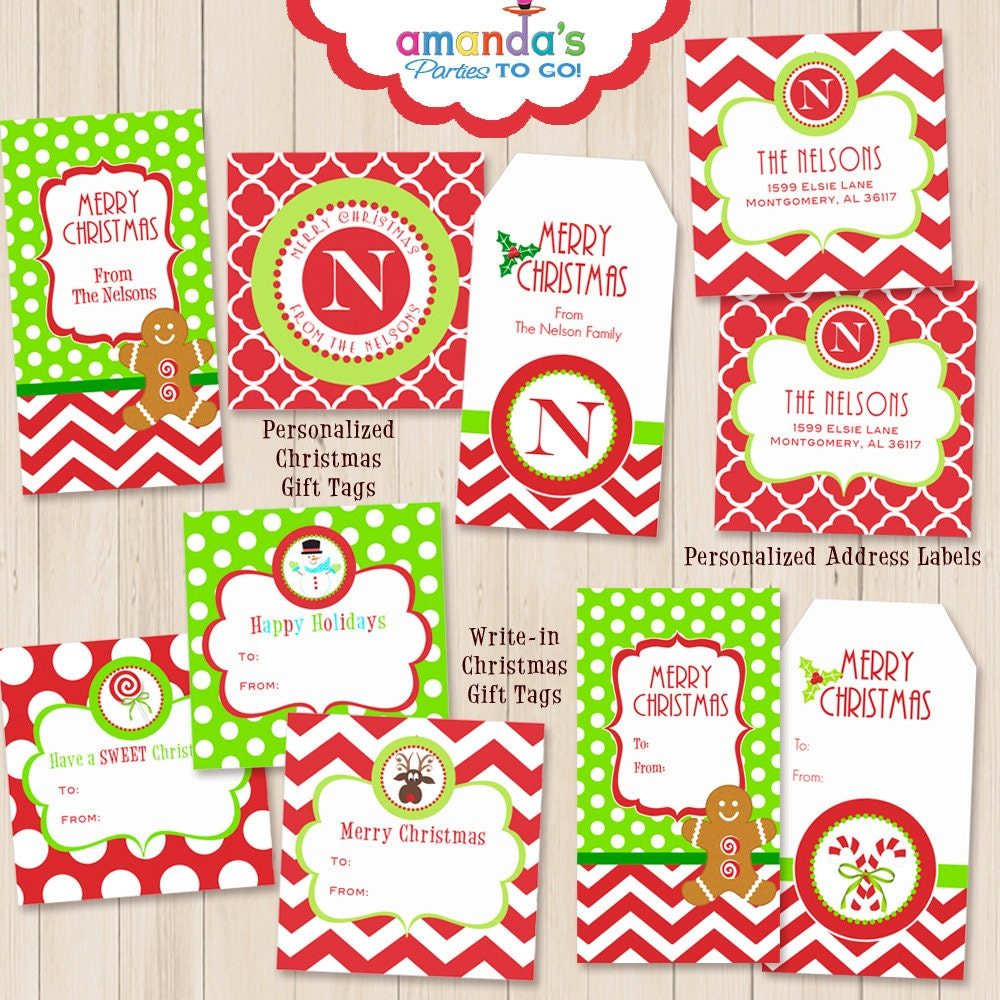 It is an image of Modest Free Printable Customizable Gift Tags
