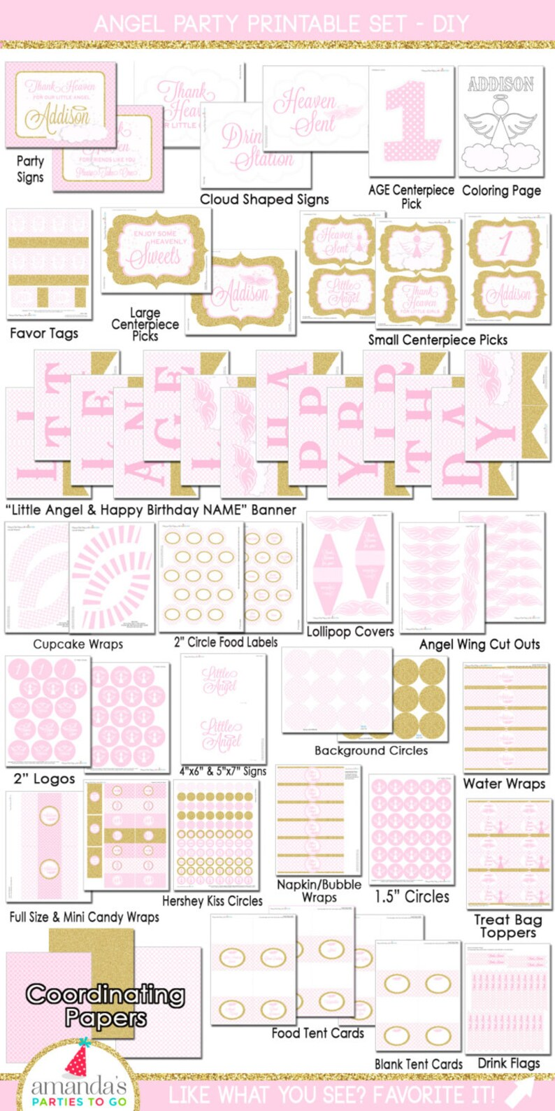 Little Angel Birthday  Little Angel Party Decorations  image 0