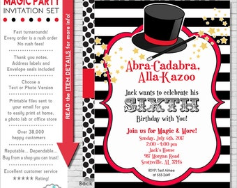 Magic Party Invitation   Magic Birthday Invitation   Magic Invitation Printable   Magician Invitation   Amanda's Parties To Go