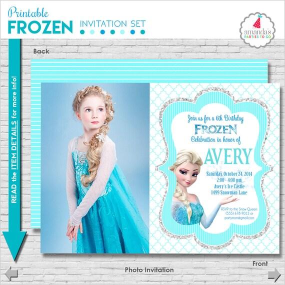 Frozen Birthday Invitation Printable Frozen Party Invitation Etsy