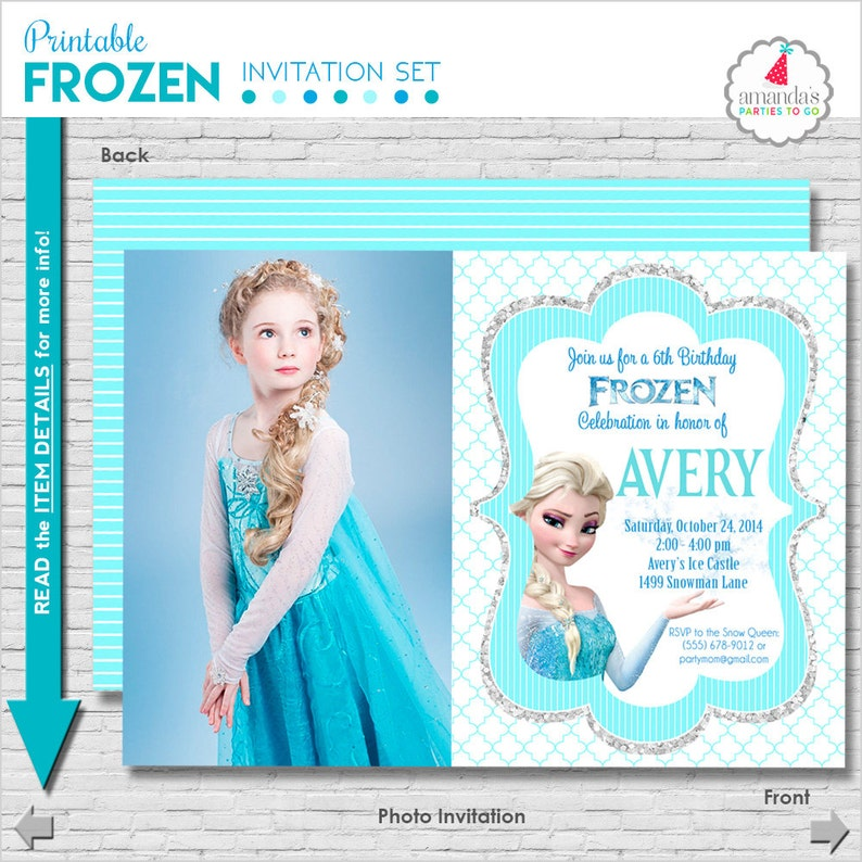 photo relating to Frozen Printable Invitations identify Frozen Birthday Invitation Printable Frozen Occasion Invitation Frozen Invitation Frozen Elsa Invitation Amandas Events Toward Move