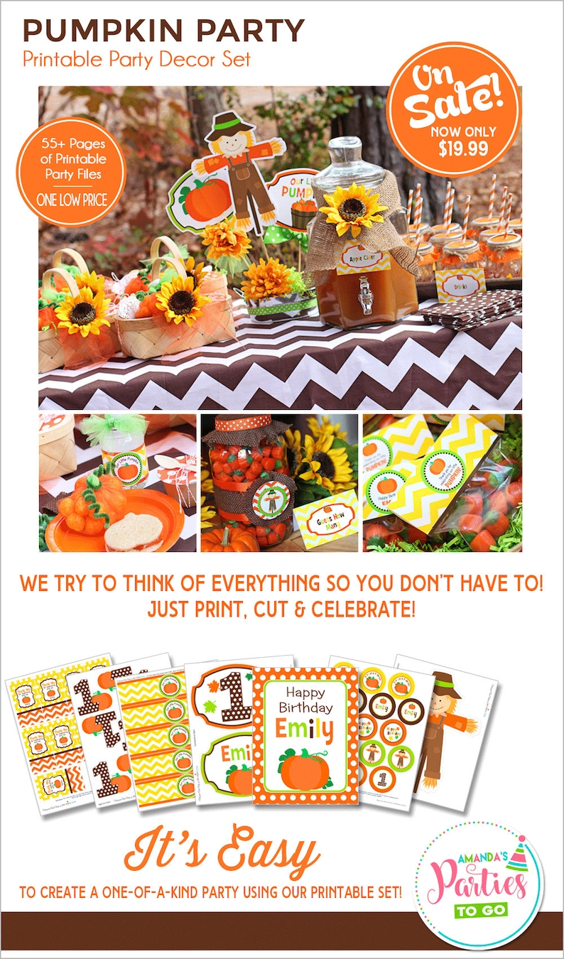 Pumpkin Patch Party Printable Pumpkin Birthday My Little image 0