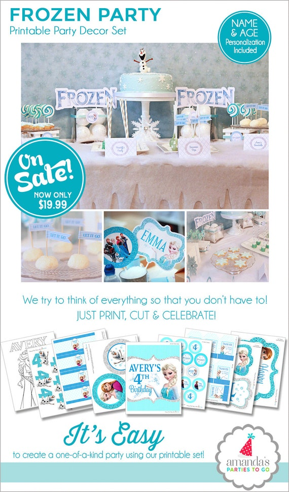 image regarding Frozen Banner Printable known as Frozen Birthday Occasion Decorations, Frozen Bash Printable