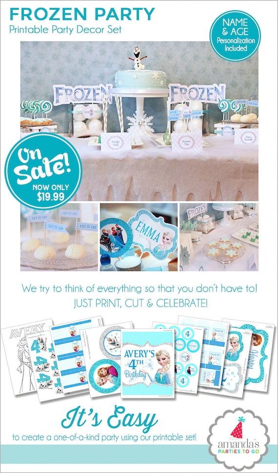 photo about Frozen Banner Printable identified as Frozen Birthday Get together Decorations, Frozen Celebration Printable