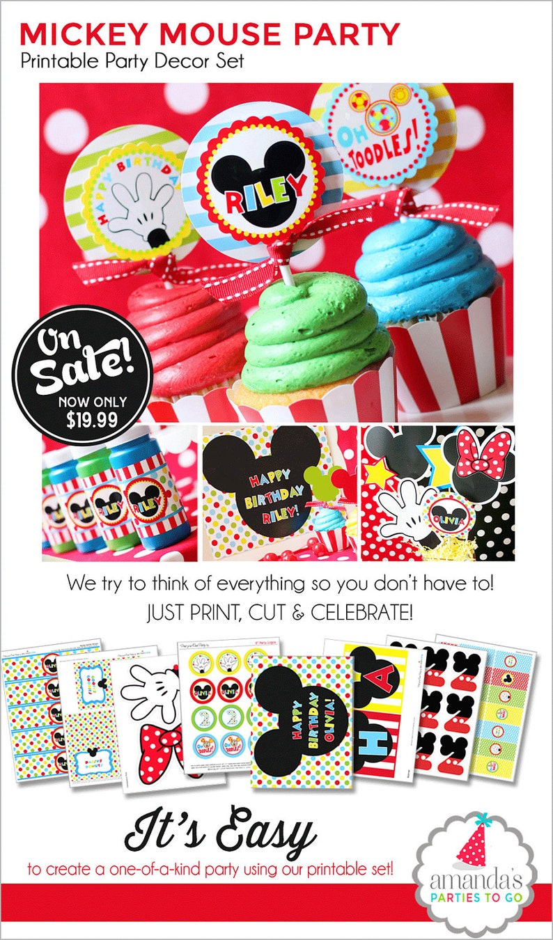 Mickey mouse clubhouse party supplies etsy