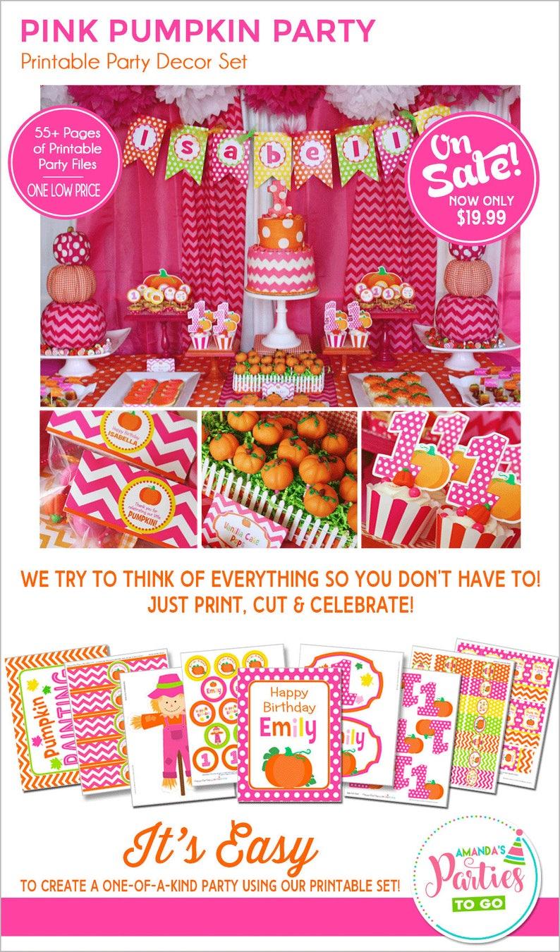 Pumpkin Patch Party Decorations  Pumpkin Party Printable  My image 0