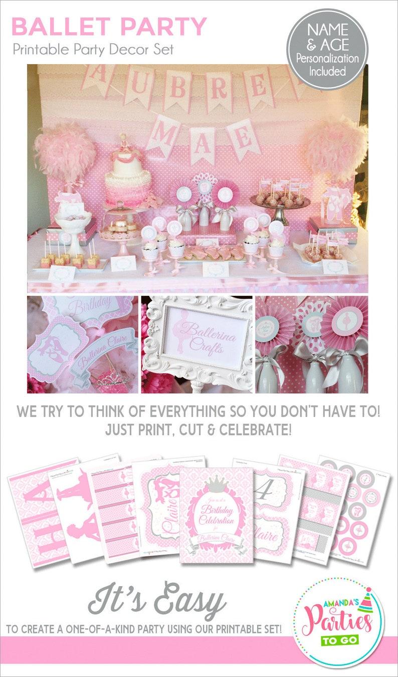 Ballerina Birthday Decorations Ballerina Party Printable image 0