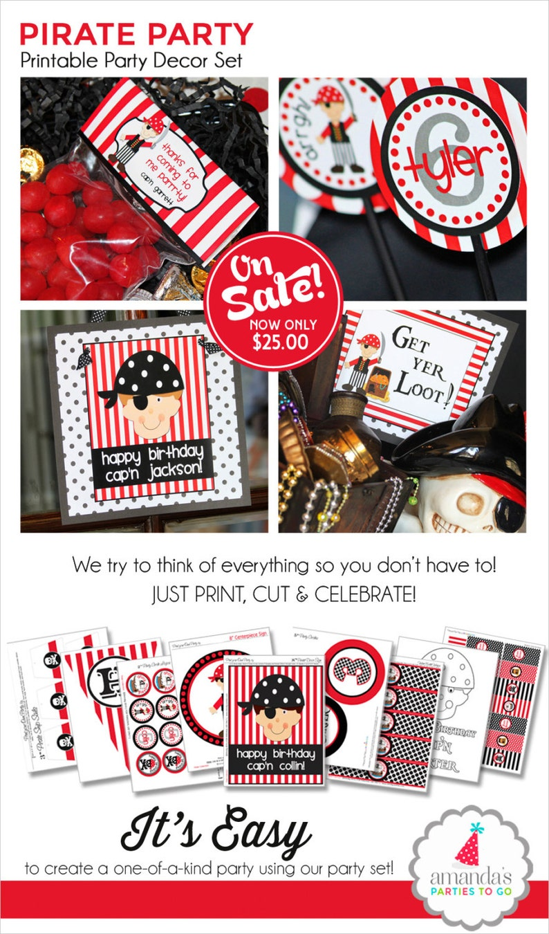 image relating to Pirate Party Printable named Pirate Birthday Get together Pirate Bash Decorations Pirate Occasion Printable  Pirate Bash Choose Pirate Get together Banner Amandas Get-togethers Toward Transfer