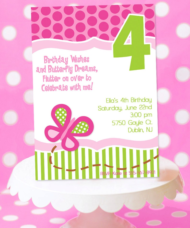 Butterfly Birthday Party Invitation  Butterfly Party image 0