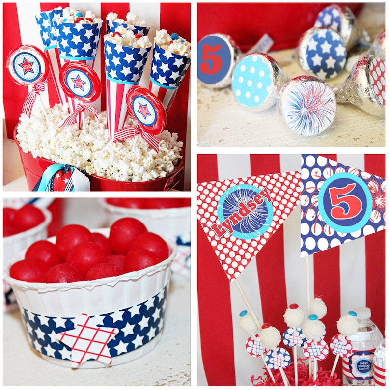 July 4th Birthday Party Decorations