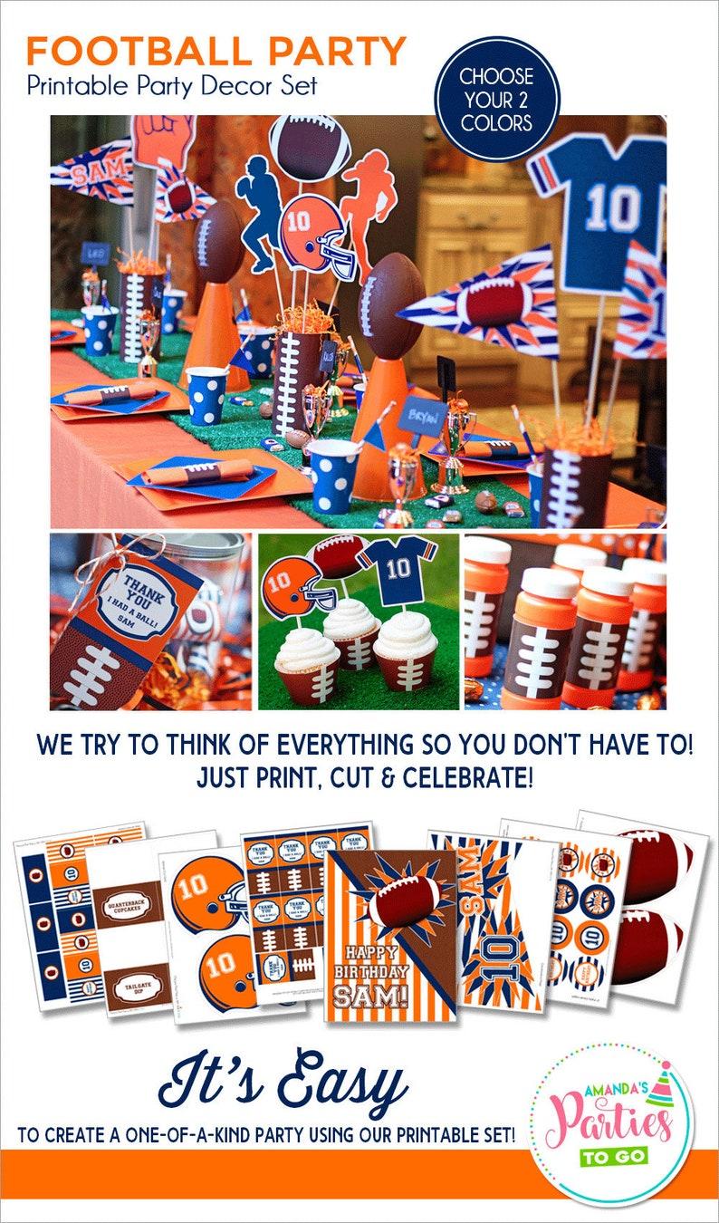 Football Party Decorations  Football Birthday Printable  image 0