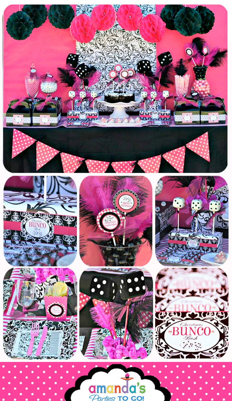 Bunco Birthday Party Printable  Bunco Party Decorations  image 0