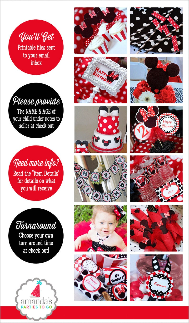 Minnie Mouse Birthday Decorations Red Party