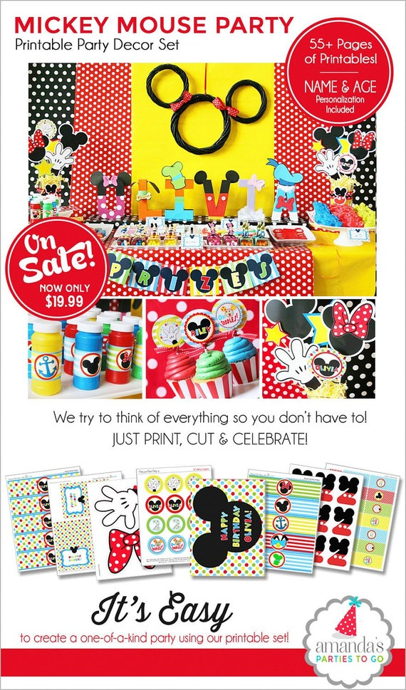 Mickey Mouse Birthday Decorations Party