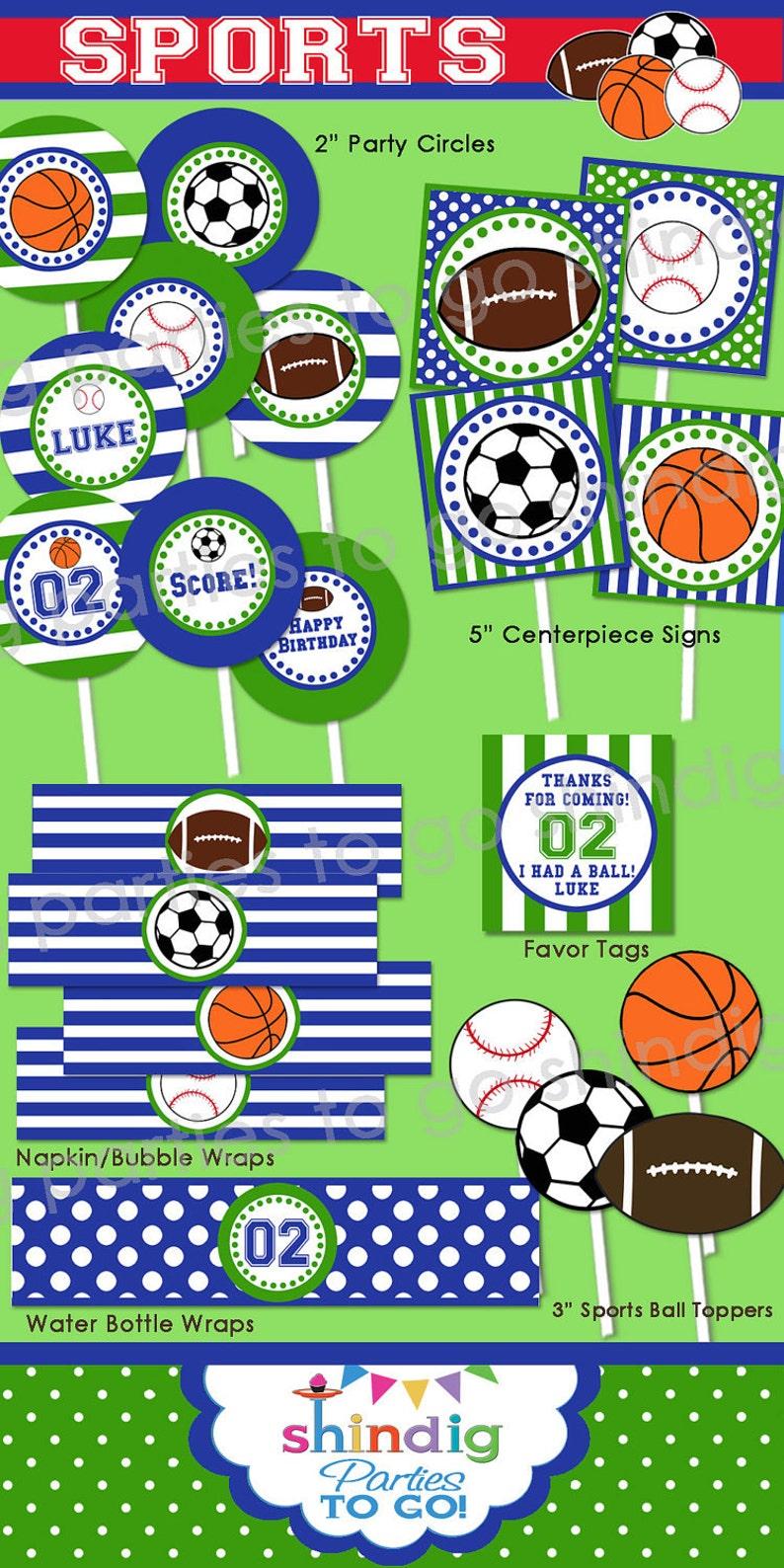 Sports Birthday Party Printable  Sports Decor  Sports 1st image 0
