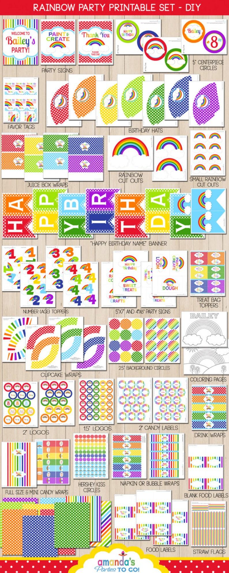 Rainbow Birthday  Rainbow Party  Rainbow Party Decorations  image 0