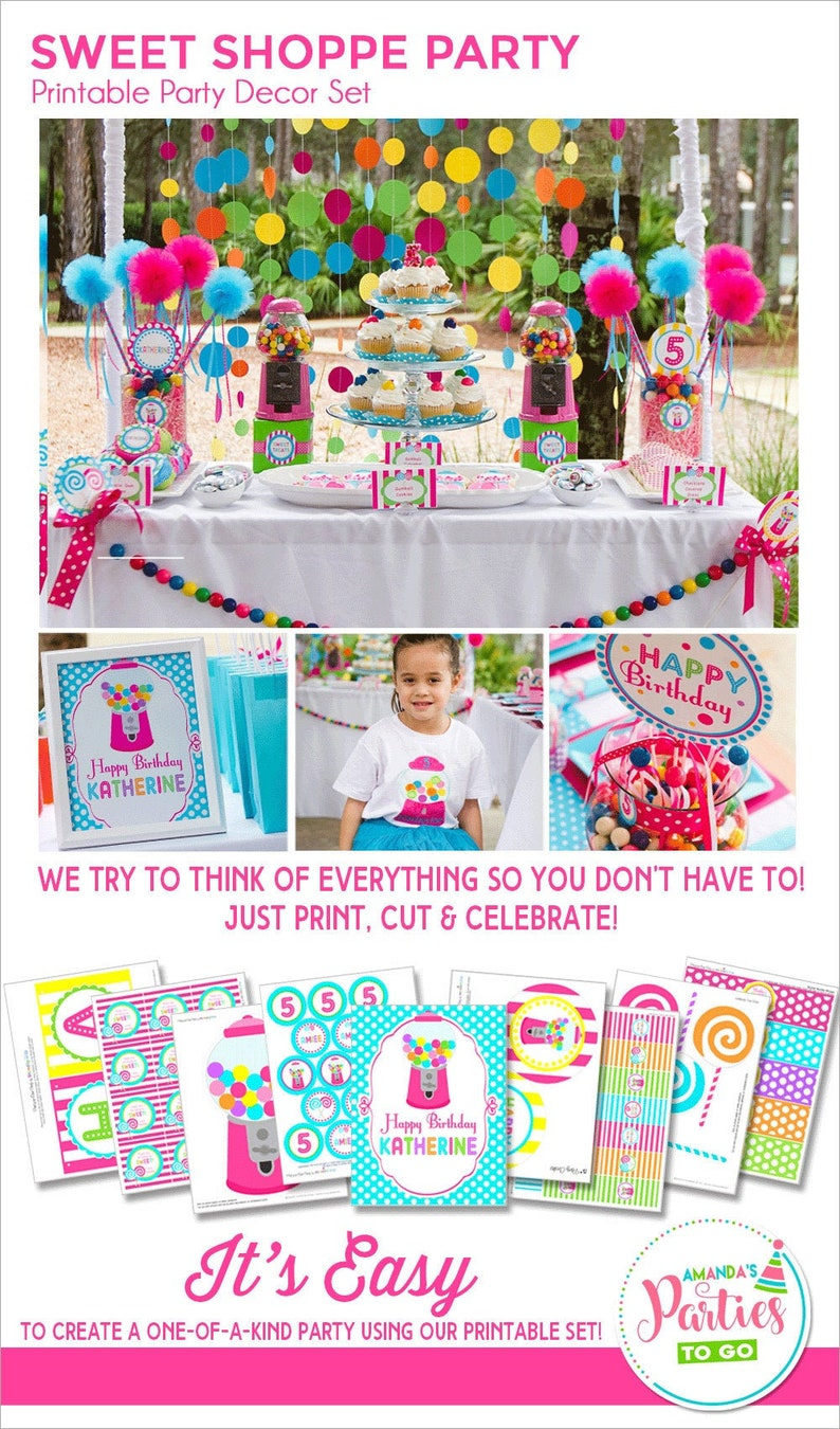 Sweet Shoppe Birthday Decorations Sweet Sixteen Party image 0