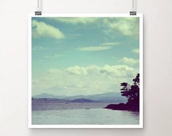 "KunstDruck ""Sfumato"" - Natur See Meer Ozean Strand Wasser vintage Foto Fotografie"