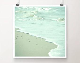 "KunstDruck ""LandGang"" - Natur See Meer Ozean Strand Wellen Wasser vintage Foto Fotografie"