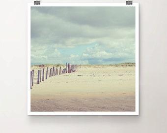 WaveBreaker - Fine Art Print Seaside Beach Wood Sky Clouds